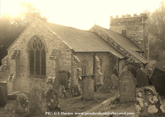 Nevern Church.Has a a 6th century robed ghost been seen here?