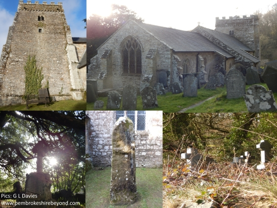Nevern Church, Pembrokeshire. Home to many Mysteries and a robed apparition...