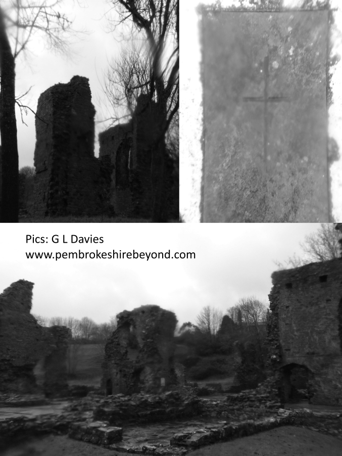 Priory Ruin, Haverfordwest. Is this the destination of a ghostly monk?